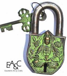 Brass Made Buddha Lock