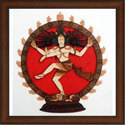 Natraj Wood Carving Frame, Size: 10 X 10 Inches