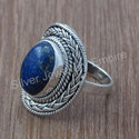 Lapis Lazuli Gemstone 925 Sterling Silver Jewelry Ring