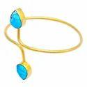 Lapis Beaded Stretchable Bracelet