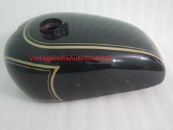 New Panther M100 600cc Black Painted Gas Fuel Petrol Tank 1947-1953 (Reproduction)
