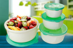 Round Plastic Food Container Set