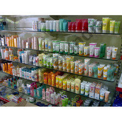 White Cosmetic Racks