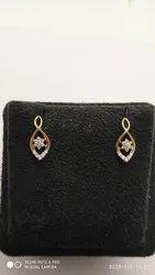 Real Diamonds Round Nakshatra Diamond Earring, Weight: 4.00