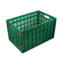 Blue Rectangular Folding Crates