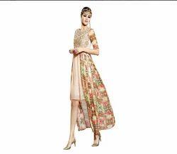 Multi Color Aura Multi Colour Georgette Embroidered Women's Wear -Aur219