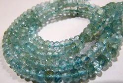 Natural Aquamarine Rondelle Faceted Beads