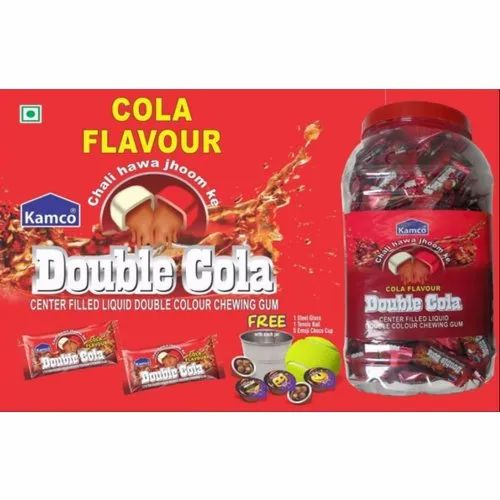 Kamco Center Filled Liquid Double Cola Chewing Gum, Packaging Type: Plastic Jar