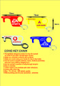 covid key chain