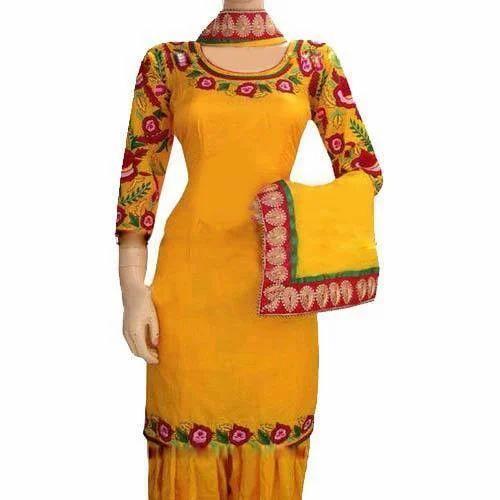 Designer Yellow Punjabi Suit View Specifications Details Of
