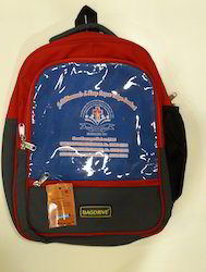 Polyester Red Rd School Bags