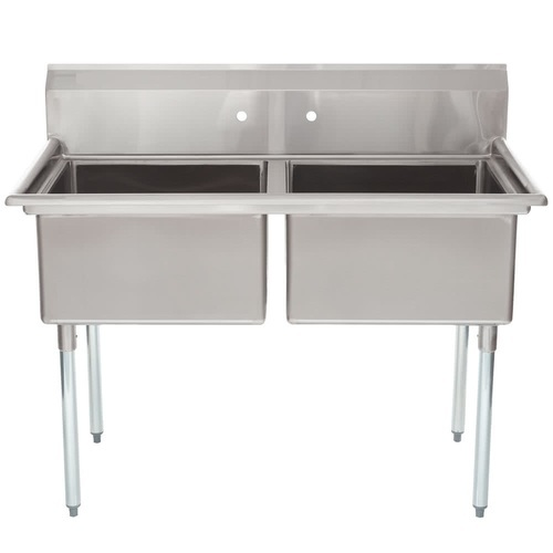 THE URBAN KICHEN Stainless Steel Two Compartment Commercial Sink, Size  (Dimension): (