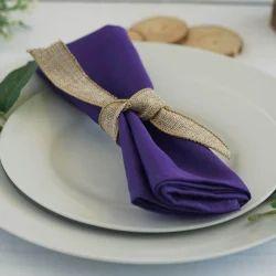 Purple Polyester Linen Napkins