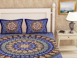 Traditional Printed Cotton Double Bed Sheet
