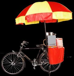 Popcorn Machine on Bicycle