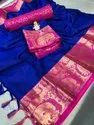 Party Wear Cotton Silk Saree