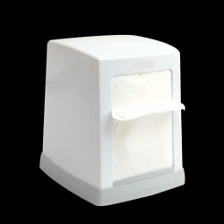 Abs Plastic White Cube Dispenser
