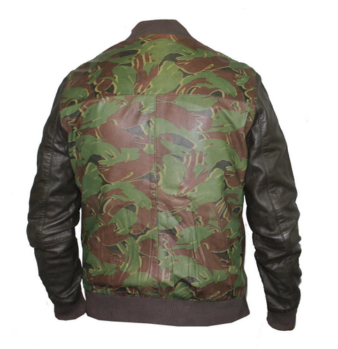 8d755da71 Hidecart Army Printed Leather jacket