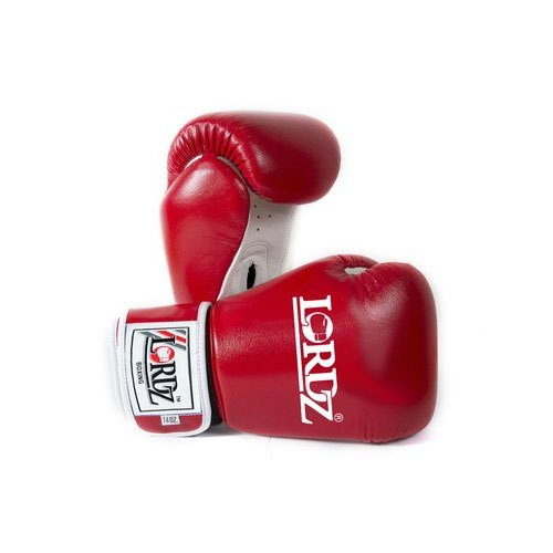 Red And White Lordz Red Competition Leather Boxing Gloves