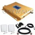 Tri Band 2G, 3G, 4G Mobile Signal Booster Amplifier Kit (Coverage 1500 sq. feet)