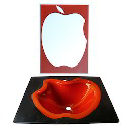 Apple Shape Glass Wash Basin