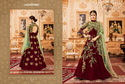 Thankar Designer Suit with Pari Silk with Coding & Chain Stich Embroidery work with Stone