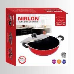 Nirlon Non Stick Kadhai 26cm, Aluminium Kitchen Cooking Deep Kadai 3.6 Liter, Karahi Cum Wok