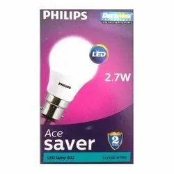 Philips 2.7W B22 Crystal White LED Bulb