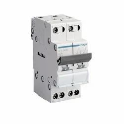 230v 50/60z 40a 2 Pole Mcb Changeover Switch Hager Sft240n