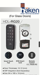 Haken Digital Door Lock For Glass Door
