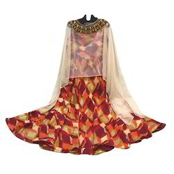 Ladies Anarkali Kurti with Poncho