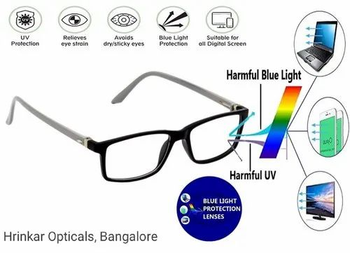 Spectacles Blue Cut Glasses For Computer Mobile Protection Use Wholesaler From Bengaluru