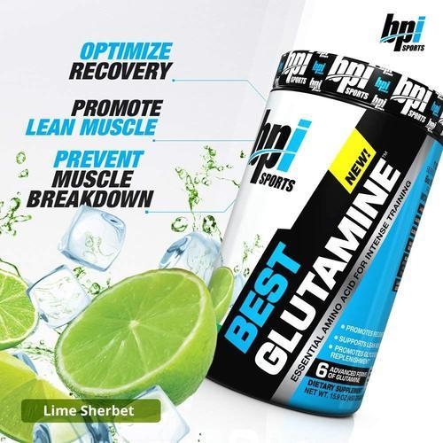 BPI Sports Best Glutamine - Lime Sherbet - 50 Servings