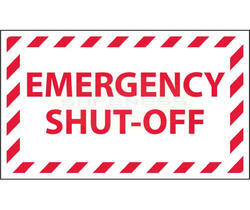 Emergency Shut-Off Sign Marker