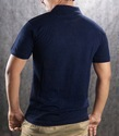 Mens Navy Blue Collar Neck T Shirt