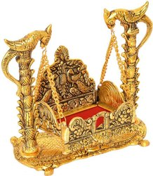 Laddu Gopal Bal Kishan Jhoola Golden Gold Plated