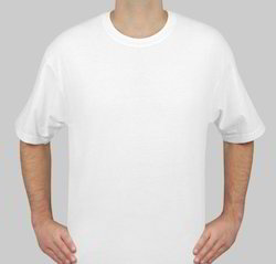 Basic V Neck O Neck White Color T Shirts