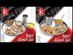 kgold 4 Pieces Stainless Steel Lunchkit Sets, for Hotel/Restaurant