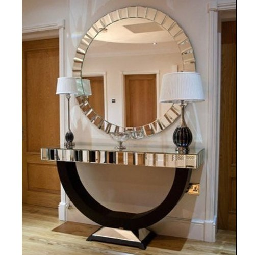 Glass Decorative Round Mirror With, Round Decorative Mirror Canada