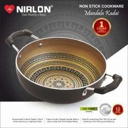 Nirlon Nonstick Mandala Deep Kadai, Non Stick Cooking Pot Utensils Gift Kitchen Utensils