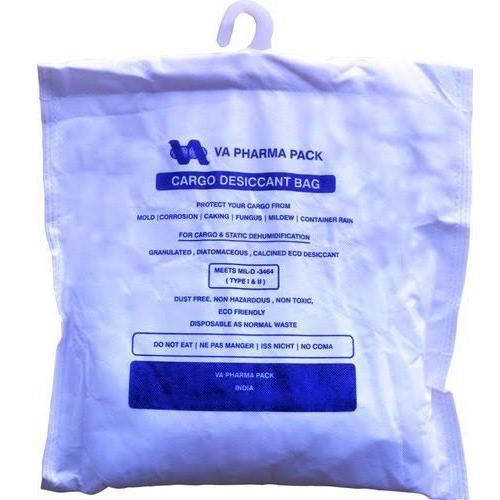 White Cargo Container Desiccant Bag Size 500 Gm And 2 Kg