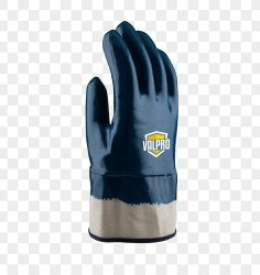 Blue Full Fingered Nitrile Gloves, Size: Large