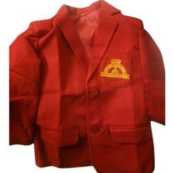 Winter Red School Cotton Blazer, Size: S - L, Packaging Type: Packet