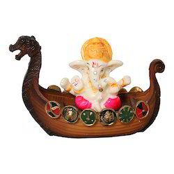 Marble Look Shri/ Lord Ganesh Dashboard Statue/ Showpiece