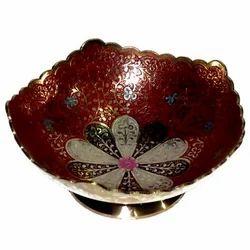 Brass Flower Square Shape Bowl