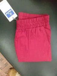 Cotton Red Ladies Pants