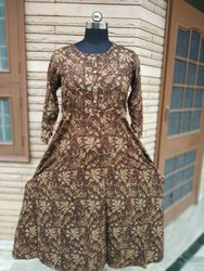 Ethnic Stitched Rayon Printed Gown
