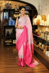 Pure Linen Mahapar Sarees