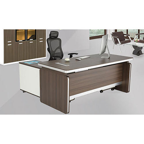 Wooden Rectangular Office Boss Table, Warranty: 1 Year, Rs