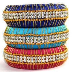 Multicolor Stylish Silk Thread Bangle for woman and girls